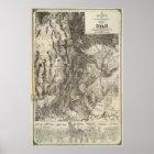Schnitt- des Westens neue und topographische Karte Poster