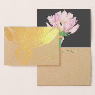 Schnittlauch-Blume Folienkarte