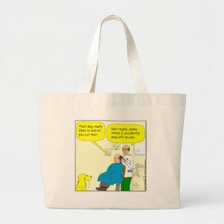 Schnitzel 437 ein des Ohrs Friseur-Cartoon weg - Jumbo Stoffbeutel