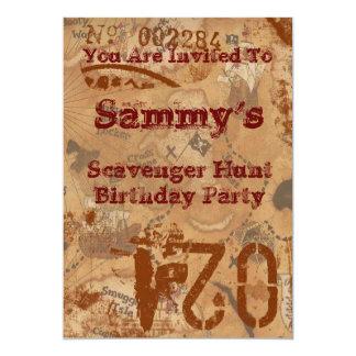 Schnitzeljagd-Geburtstag laden ein 12,7 X 17,8 Cm Einladungskarte