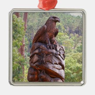 Schnitzendes Eagle-Totem, Portugal Silbernes Ornament