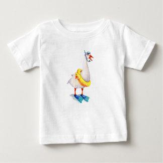 Schnorchelnde weiße Gans Baby T-shirt