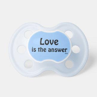 Schnuller-Liebe ist die Antwort auf Blau Baby Schnuller