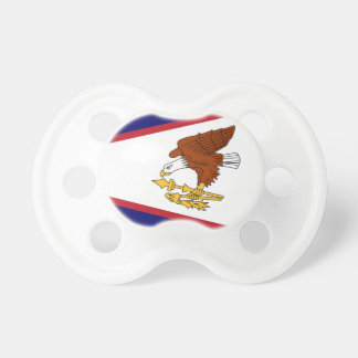 Schnuller mit Flagge von American Samoa, USA