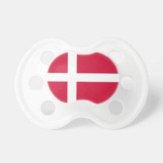 Schnuller mit Flagge von Dänemark