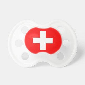Schnuller mit Flagge von der Schweiz