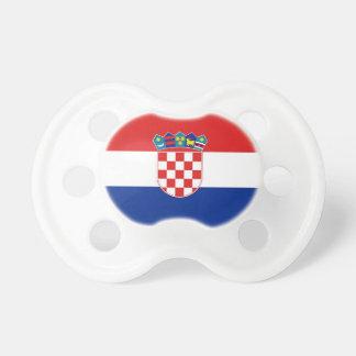 Schnuller mit Flagge von Kroatien Schnuller
