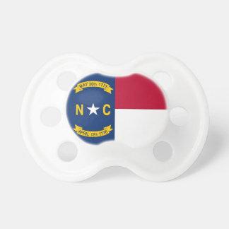 Schnuller mit Flagge von Nord-Carolina, USA