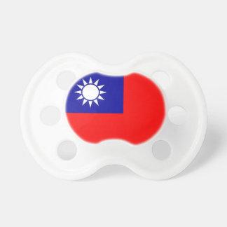 Schnuller mit Flagge von Taiwan