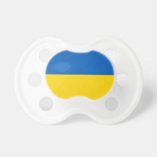 Schnuller mit Flagge von Ukraine