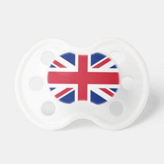 Schnuller mit Flagge von Vereinigtem Königreich