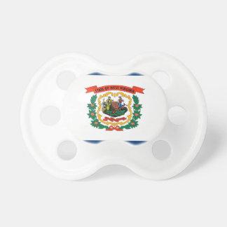 Schnuller mit Flagge von West Virginia, USA