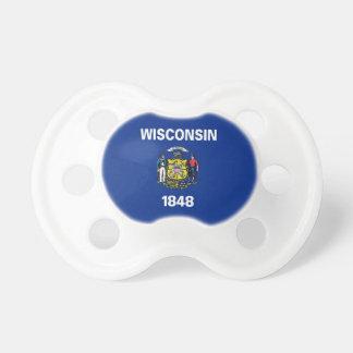 Schnuller mit Flagge von Wisconsin, USA