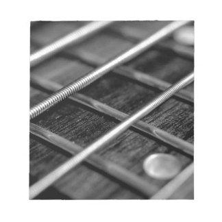 Schnur-Bass-Gitarren-Musik-Rock-Ton-Instrument Notizblock