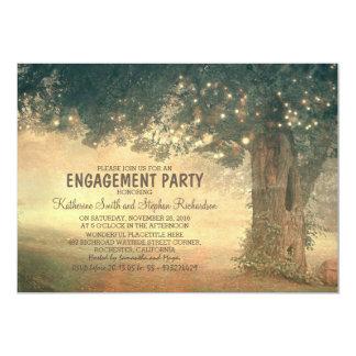 Schnur Baum-Verlobungs-Party der Lichter des 12,7 X 17,8 Cm Einladungskarte