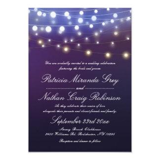 Schnur beleuchtet Abends-Hochzeit Karte