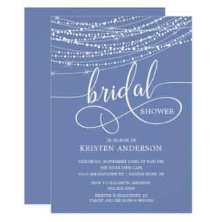 Schnur beleuchtet Brautparty-Einladungen Karte