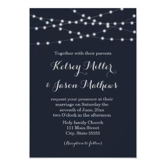 Schnur beleuchtet Hochzeitseinladung 12,7 X 17,8 Cm Einladungskarte