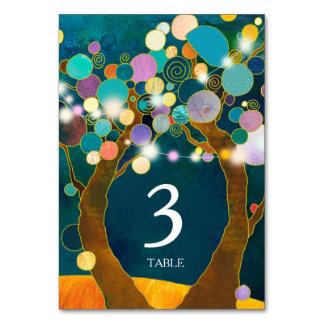Schnur beleuchtet Liebe-Baum-aquamarine Wedding Karte