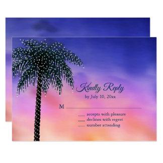 Schnur beleuchtet Palme-Sonnenuntergang UAWG Karte