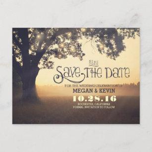 Schnur beleuchtet romantische Save the Date Ankündigungspostkarte