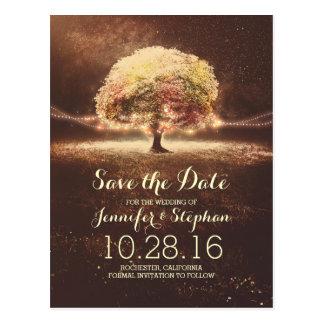 Schnur beleuchtet romantische Save the Date Postkarte
