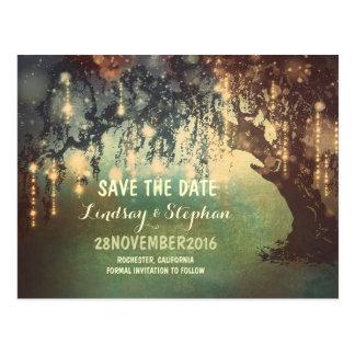 Schnur beleuchtet rustikale Save the Date Postkarten