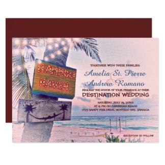 Schnur beleuchtet Strand-Hochzeit in Karte