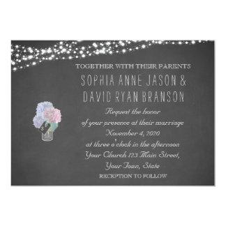 Schnur beleuchtet Weckglas-Tafel-Hochzeit einladen Karte
