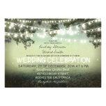Schnur der rustikalen Hochzeitseinladung der Einladungskarte