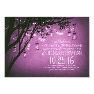 Schnur der Vintagen Hochzeit der Lichtmaurergläser 12,7 X 17,8 Cm Einladungskarte
