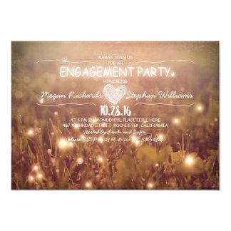 Schnur des rustikalen Verlobungs-Party der 12,7 X 17,8 Cm Einladungskarte