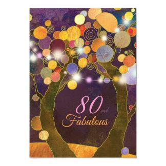 Schnur-Licht-80. Geburtstags-Party Einladung