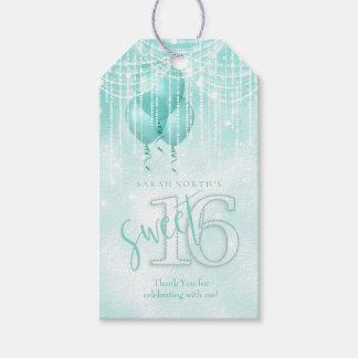 Schnur-Licht-u. Ballon-Bonbon 16 aquamarines ID473 Geschenkanhänger