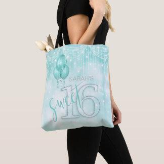 Schnur-Licht-u. Ballon-Bonbon 16 aquamarines ID473 Tasche