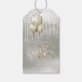 Schnur-Licht-u. Ballon-Bonbon 16 Champagne ID473 Geschenkanhänger