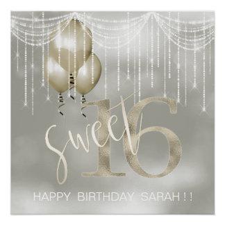 Schnur-Licht-u. Ballon-Bonbon 16 Champagne ID473 Poster