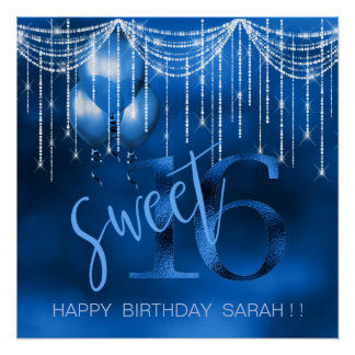 Schnur-Licht-u. Ballon-Bonbon 16 DK blaues ID473 Poster