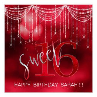 Schnur-Licht-u. Ballon-Bonbon 16 rotes ID473 Poster