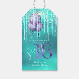 Schnur-Licht-u. Ballon-Bonbon 16 TealPurple ID473 Geschenkanhänger