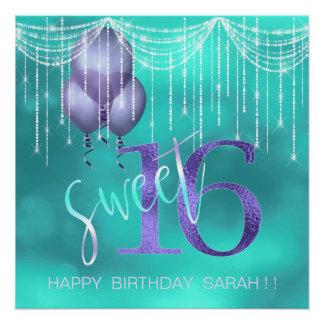 Schnur-Licht-u. Ballon-Bonbon 16 TealPurple ID473 Poster
