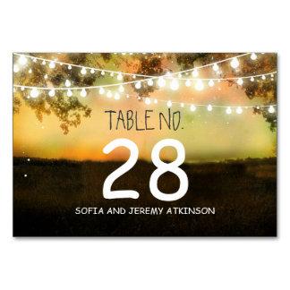 Schnur lighs, die Tischnummer-Karten-Platzkarte