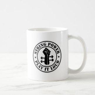 Schnur-Power… Spielen Sie ihn loud!! Kaffeetasse