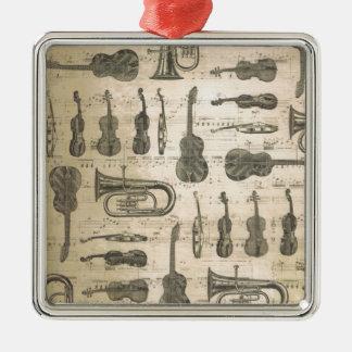 Schnur und Messing Silbernes Ornament