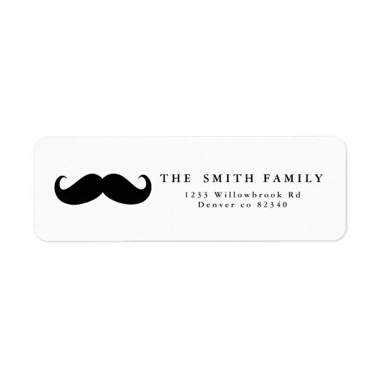 Schnurrbart-Adressen-Etikett