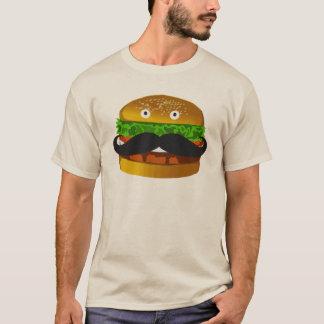 Schnurrbart-Burger-Mann-T - Shirt
