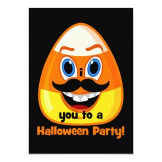 Schnurrbart candycorn Halloween 12,7 X 17,8 Cm Einladungskarte