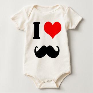 Schnurrbart der Liebe I Baby Strampler