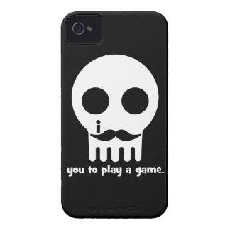 Schnurrbart Gamer iPhone 4 Etuis