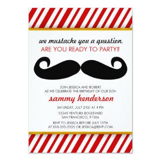 Schnurrbart-Geburtstags-Einladung